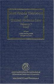 Cover of: Max Planck yearbook of United Nations law |