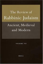 Cover of: Review Of Rabbinic Jadaism | Alan J. Avery-Peck