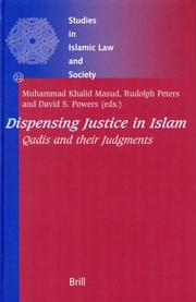 Cover of: Dispensing Justice in Islam |