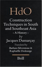 Cover of: Construction Techniques In South And Southeast Asia | Jacques Dumarcay
