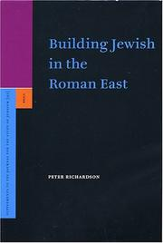 Cover of: Building Jewish In The Roman East (Supplements to the Journal for the Study of Judaism)