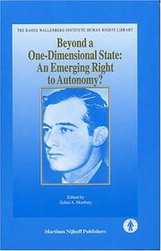 Cover of: Beyond A One-Dimensional State | Zelim A. Skurbaty
