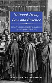 Cover of: National treaty law and practice |