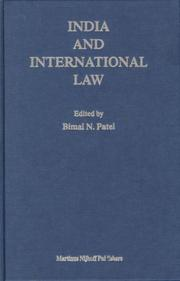 Cover of: India and international law |