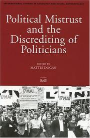 Cover of: Politicial Mistrust and the Discrediting of Politicians (International Studies in Sociology and Social Anthropology) (International Studies in Sociology and Social Anthropology) |