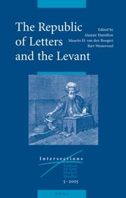 Cover of: The Republic of Letters And the Levant (Intersections) |