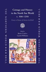 Cover of: Coinage and history in the North Sea world, c. AD 500-1200 |