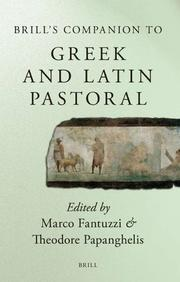 Cover of: Brill's companion to Greek and Latin pastoral