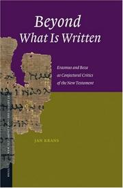 Beyond What Is Written by Jan Krans