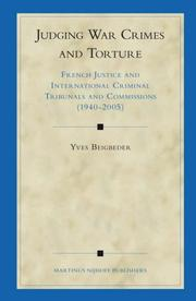 Cover of: Judging War Crimes and Torture