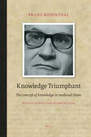 Cover of: Knowledge Triumphant | Franz Rosenthal