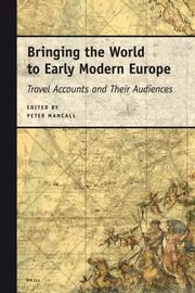 Cover of: Bringing the World to Early Modern Europe