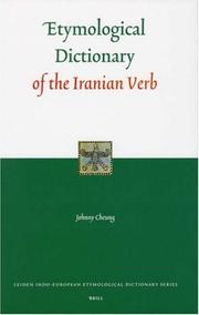 Cover of: Etymological Dictionary of the Iranian Verb (Leiden Indo-European Etymological Dictionary Series)