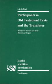 Cover of: Participants in Old Testament texts and the translator