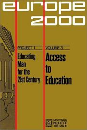 Cover of: Access to education. | Alfred Sauvy