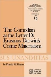 Cover of: The comedian as the letter D: Erasmus Darwin's comic materialism
