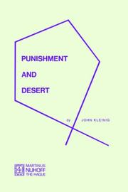 Cover of: Punishment and desert