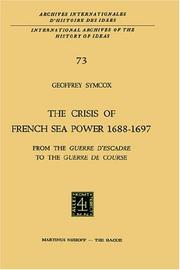 Cover of: The Crisis of the French Sea Power, 1688-1697
