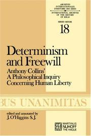 Cover of: Determinism and freewill