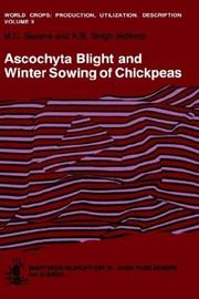 Cover of: Ascochyta blight and winter sowing of chickpeas