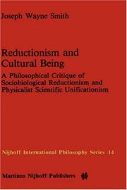 Cover of: Reductionism and cultural being
