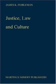 Cover of: Justice, law, and culture