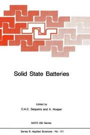 Cover of: Solid State Batteries (NATO Science Series E:) |