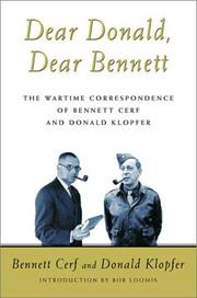 Cover of: Dear Donald, Dear Bennett | Bennett Cerf