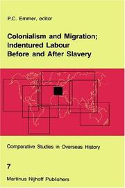 Cover of: Colonialism and migration