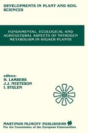 Cover of: Fundamental, ecological, and agricultural aspects of nitrogen metabolism in higher plants |