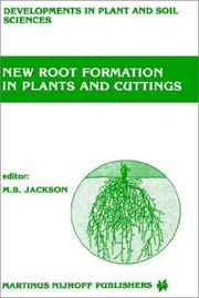 Cover of: New root formation in plants and cuttings