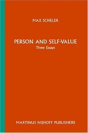 Cover of: Person and self-value: three essays