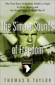 Cover of: The simple sounds of freedom | Taylor, Thomas