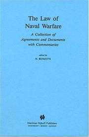 Cover of: The Law of naval warfare |