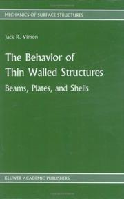 Cover of: The Behavior of Thin Walled Structures