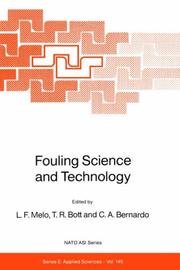 Cover of: Fouling Science and Technology (NATO Science Series E: (closed)) |