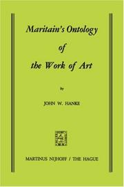 Cover of: Maritain's ontology of the work of art