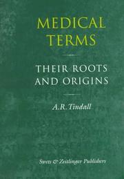 Cover of: Medical terms | A. R. Tindall