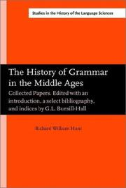 Cover of: The history of grammar in the Middle Ages