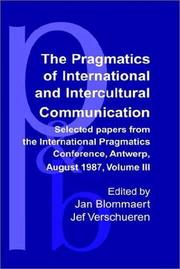 Cover of: Selected Papers from the International Pragmatics Conference, Antwerp, August 17-22, 1987