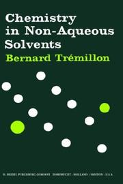 Cover of: Chemistry in non-aqueous solvents