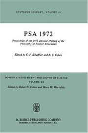 Cover of: Proceedings of the 1972 Biennial Meeting of the Philosophy of Science Association (Boston Studies in the Philosophy of Science) |
