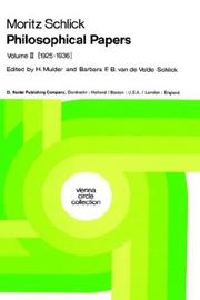 Cover of: Philosophical Papers: Volume 2: (1925-1936) (Vienna Circle Collection, Volume 11)
