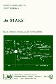 Cover of: Be Stars (International Astronomical Union Symposia) |