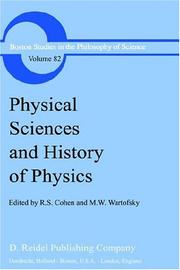 Cover of: Physical Sciences and History of Physics (Boston Studies in the Philosophy of Science) |