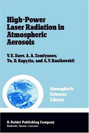 Cover of: High-power laser radiation in atmospheric aerosols