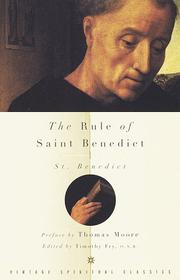 Cover of: The Rule of Saint Benedict