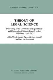 Cover of: Theory of legal science | Conference on Legal Theory and Philosophy of Science (1983 Lund, Sweden)