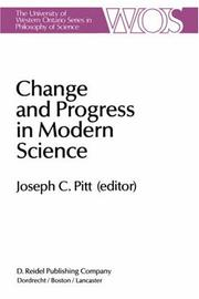 Cover of: Change and Progress in Modern Science | J. Pitt