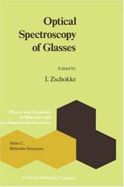 Cover of: Optical spectroscopy of glasses |